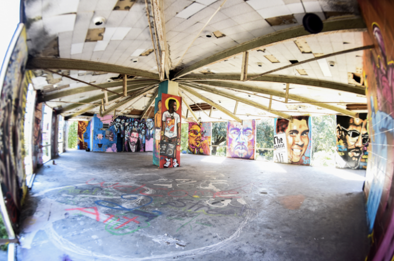 "A look at artwork inside Brandan Odums' ""Exhibit Be"" (2014)."