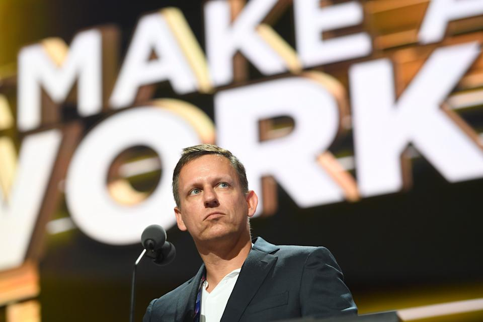 Paypal co-founder and venture capitalist Peter Thiel. Photo: USA TODAY Network/SIPA USA/PA Images