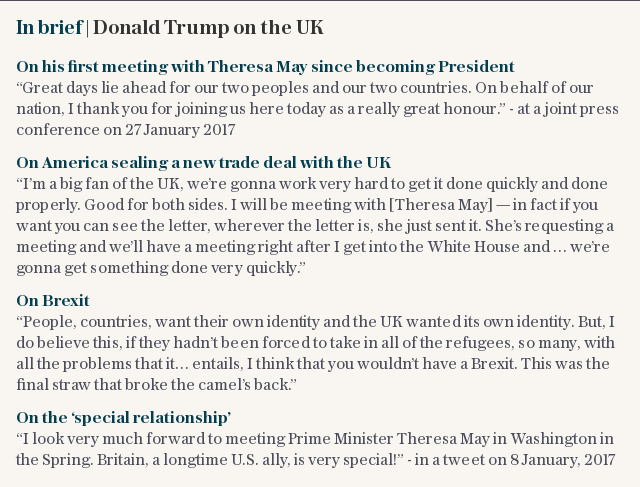 In brief | Donald Trump on the UK