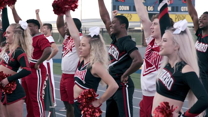 """A scene from the Netflix series """"CHEER."""""""