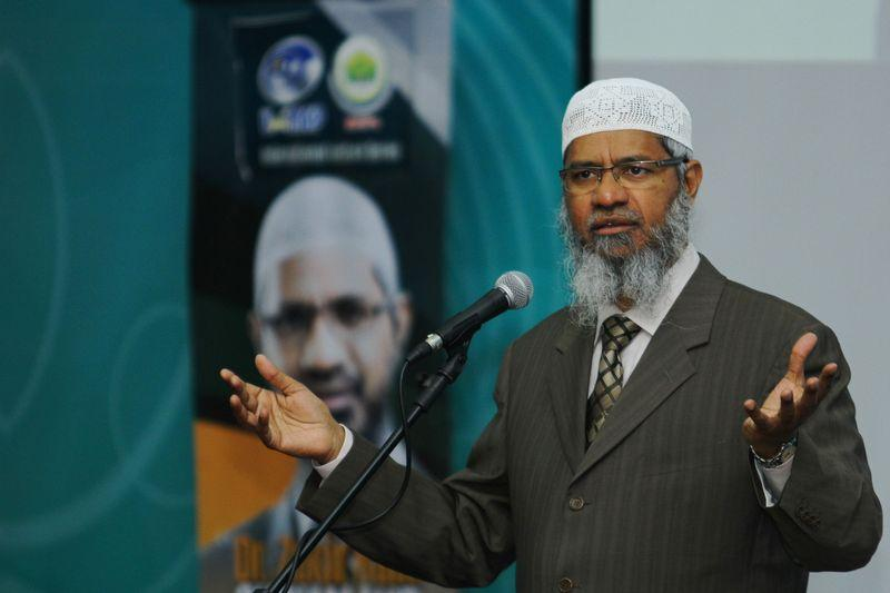 Dr Zakir Naik has drawn flak from the minority ethnic Indians and Chinese for his inflammatory remarks against them and their religious beliefs. — Bernama pic