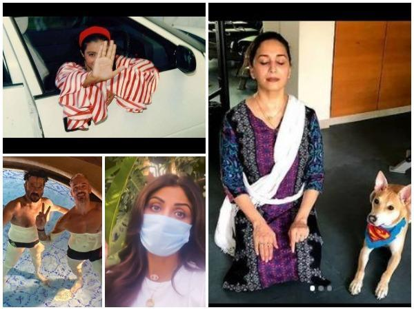Pictures shared by actors on World Health Day (Image courtesy: Instagram and Twitter))