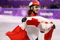 <p>Shaggy haired Canadian speed skater Samuel Girard won a gold medal in short track speed skating. And he did it while looking good, thanks to his hipster folk-singer style chin fuzz. (Getty) </p>
