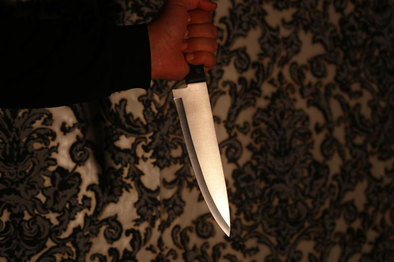 The stabbing victim told police that he and his friend thought the knife (not pictured) was a prop. The man who allegedly supplied the knife reportedly said he didn't think it was that sharp. (Marccophoto via Getty Images)