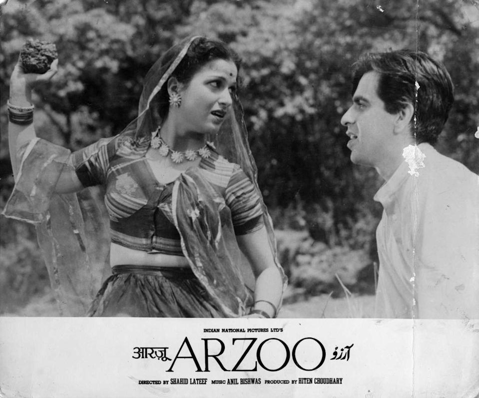 With Dilip Kumar in Arzoo
