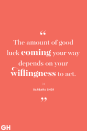 <p>The amount of good luck coming your way depends on your willingness to act.</p>