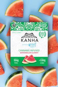 Kanha powered by Reef Organic cannabis infused watermelon gummies