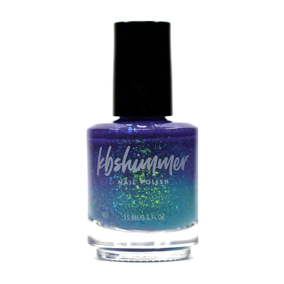 We don't know how they did it. The formulators at KB Shimmer have somehow managed to capture what looks like a gorgeous, sparkling sea in a bottle. And lucky for you, that means you can wear that marine magic on your hands this summer, whether or not you make it to the beach. This shade, Branching Out, is one of the brand's fascinating Tri-Thermal Nail Polishes, which means its holographic flakes shift between blue and green tones.
