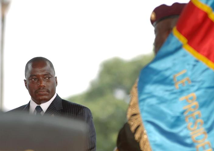 Congolese President Joseph Kabila during his inauguration ceremony on December 6, 2006 (AFP Photo/LIONEL HEALING)