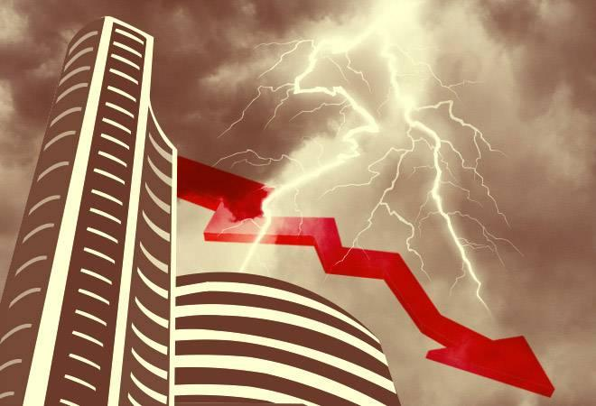 While the Sensex fell 284 points to 35,186 , Nifty was down 83 points to 10,578. Of 30 Sensex stocks, 26 were trading in the red.