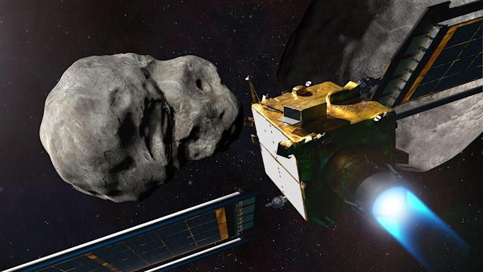 DART nasa asteroid spaceship