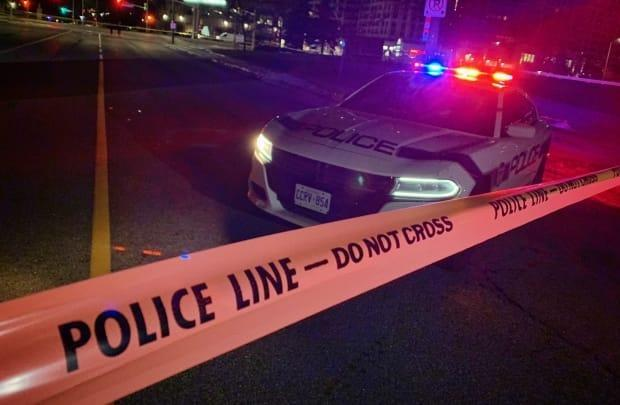 Police said an occupant of one of the vehicles sustained life-threatening injuries and was going to be transported to a trauma centre. However, that person died on scene, Peel police spokesperson Akhil Mooken said.  (James Morrison-Collalto/CBC - image credit)