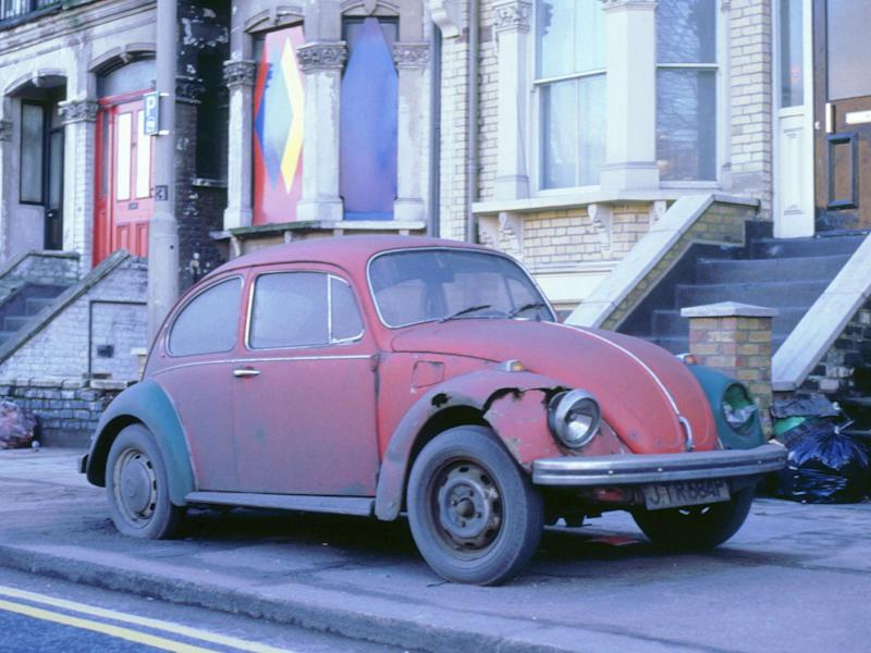 A rusty old Beetle, first registered in 1976 and now potentially exempt from the MOT test: National Motor Museum