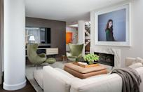 """<p>""""Staying in is the new going out,"""" says <a href=""""https://www.elledecor.com/design-decorate/interior-designers/g3076/a-list-interior-designers/"""" rel=""""nofollow noopener"""" target=""""_blank"""" data-ylk=""""slk:A-List"""" class=""""link rapid-noclick-resp"""">A-List</a> designer <strong><a href=""""https://www.bradfordid.com/"""" rel=""""nofollow noopener"""" target=""""_blank"""" data-ylk=""""slk:Brad Ford"""" class=""""link rapid-noclick-resp"""">Brad Ford</a>.</strong> """"Since people have had to adjust to what outside entertainment looks like, I think you're going to see more attention paid to what that looks like inside the home. Bigger TV's, better sound systems, and more comfortable and considered lounge seating will become a priority in order to enjoy new blockbuster movies or headlining concerts. Dining in will also change, with a greater appreciation for beautifully designed <a href=""""https://www.elledecor.com/design-decorate/trends/g34918417/kitchen-trends-2021/"""" rel=""""nofollow noopener"""" target=""""_blank"""" data-ylk=""""slk:kitchens"""" class=""""link rapid-noclick-resp"""">kitchens</a>, tables and chairs, and dishes and serving ware. For the past year, I think people have tried to strive for, and will continue to strive for, the atmosphere they've missed at their favorite restaurant or theater, from furniture to lighting to a great soundtrack.""""</p>"""