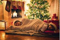 <p>Have a family slumber party underneath your Christmas tree to get the most out of its festive glow. Careful not to block Santa's route to the stockings if you do so on Christmas eve. </p>