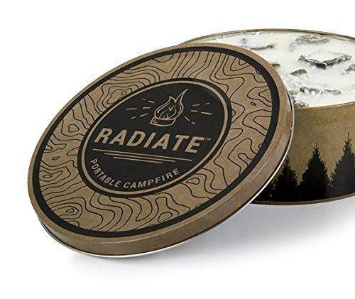 """<p><strong>Radiate</strong></p><p>amazon.com</p><p><strong>$27.99</strong></p><p><a href=""""https://www.amazon.com/dp/B073QXYW38?tag=syn-yahoo-20&ascsubtag=%5Bartid%7C10055.g.436%5Bsrc%7Cyahoo-us"""" rel=""""nofollow noopener"""" target=""""_blank"""" data-ylk=""""slk:Shop Now"""" class=""""link rapid-noclick-resp"""">Shop Now</a></p><p>This portable campfire gives him more than three hours of burn time at the campsite without wasting any time hunting for twigs and logs. That means he can focus his time and energy on making a hearty feast ... of s'mores and roasted marshmallows. </p>"""
