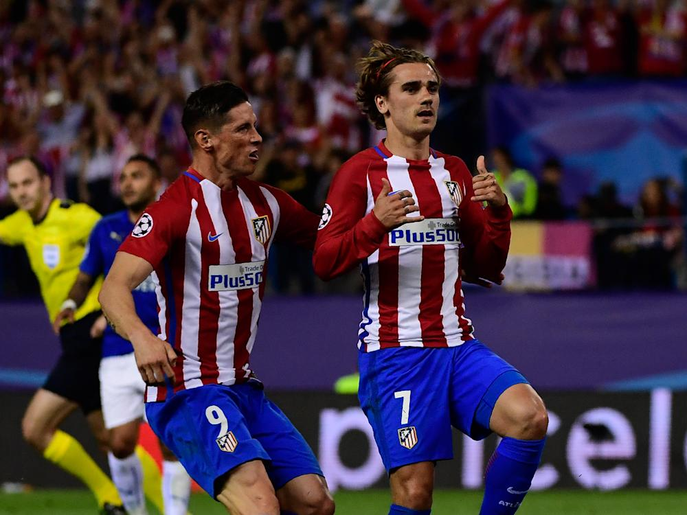 Atletico Madrid went ahead after Antoine Griezmann broke the deadlock in the first-half: Getty