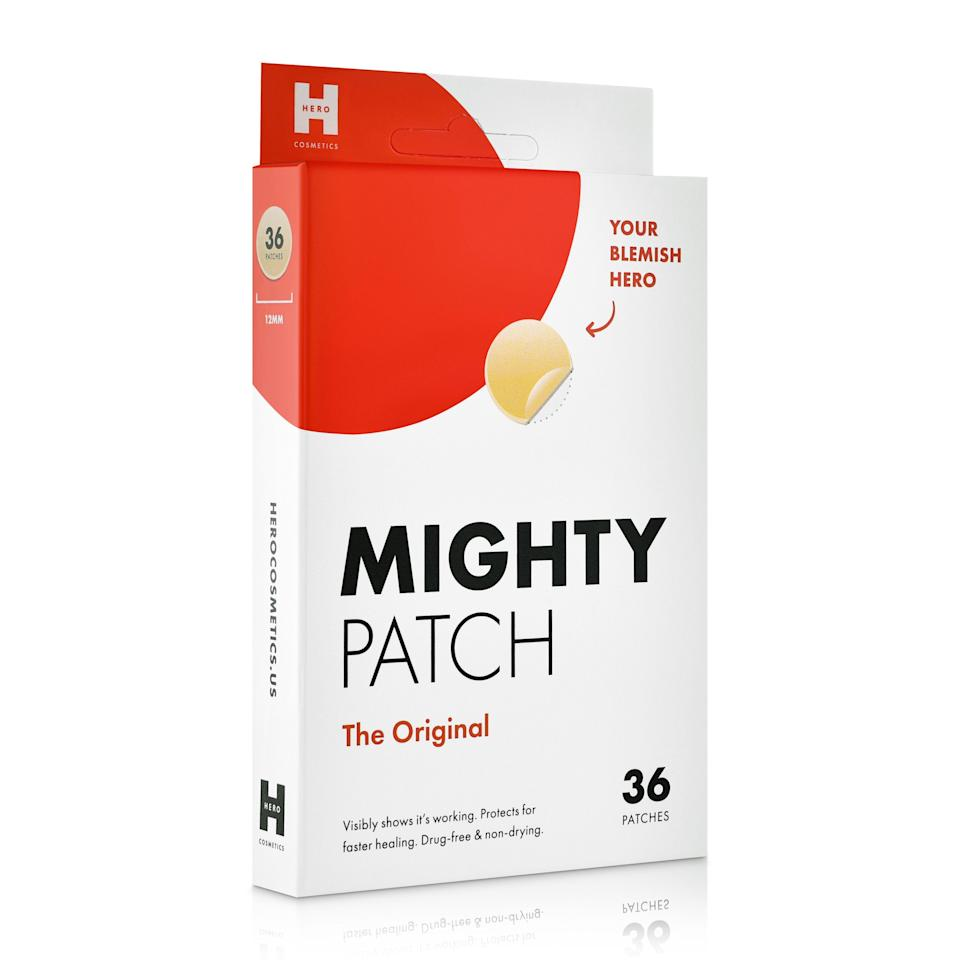 """<p><strong>Mighty Patch</strong></p><p>amazon.com</p><p><strong>$12.50</strong></p><p><a href=""""https://www.amazon.com/dp/B074PVTPBW?tag=syn-yahoo-20&ascsubtag=%5Bartid%7C10051.g.37014835%5Bsrc%7Cyahoo-us"""" rel=""""nofollow noopener"""" target=""""_blank"""" data-ylk=""""slk:Shop Now"""" class=""""link rapid-noclick-resp"""">Shop Now</a></p><p>Stick on one of these patches before you go to sleep and wake up to see a noticeable difference in your breakout. Because there's nothing more satisfying than waking up with clear skin.</p>"""
