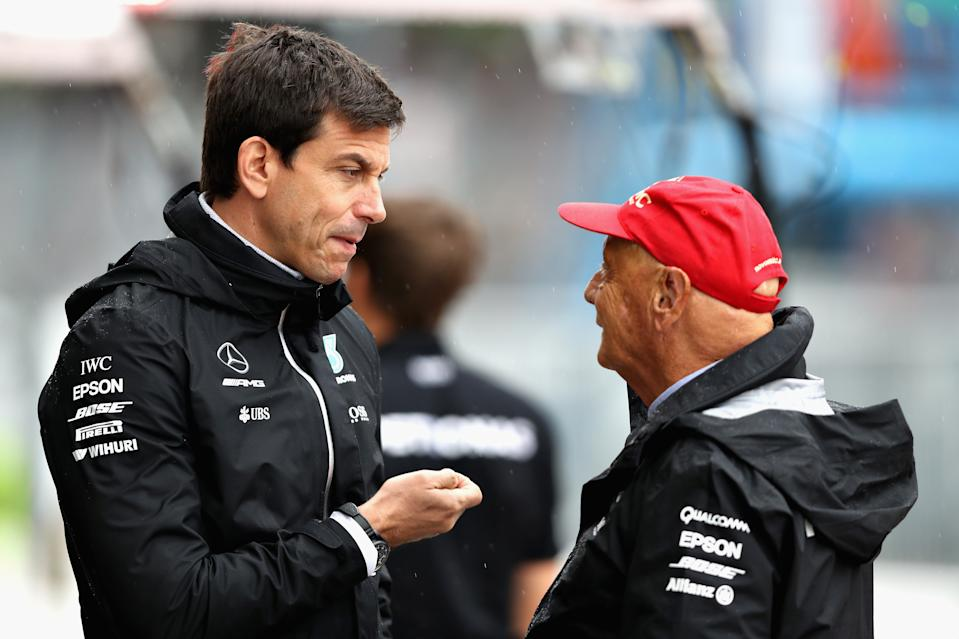 Toto Wolff and Niki Lauda have been crucial to Mercedes' success. (Credit: Getty Images)