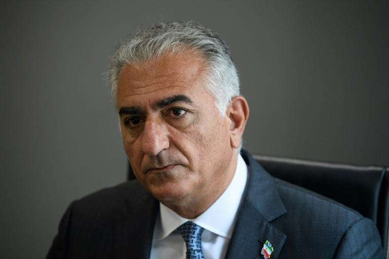 Reza Pahlavi, son of the last shah of Iran, speaks during an interview with AFP in Washington