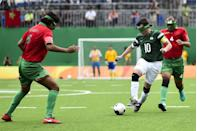 <p>We're sure most of you are familiar with 5-a-side football, but this is the Paralympic version where players wears eyeshades to ensure there's parity between them – even those who are partially sighted wear them. </p><p>Only goalkeepers and a guide behind each goal go eyeshadeless, and the ball is also built with a bell inside, so players can follow its sound.</p><p>Brazil are the team to watch here, and Ricardinho is their main man. In a word: baller.</p>