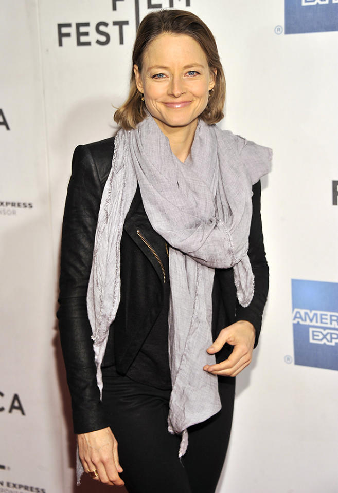 "NEW YORK, NY - APRIL 20:  Actress Jodie Foster attends the ""Sunlight Jr."" World Premiere during the 2013 Tribeca Film Festival on April 20, 2013 in New York City.  (Photo by Stephen Lovekin/Getty Images for Tribeca Film Festival)"