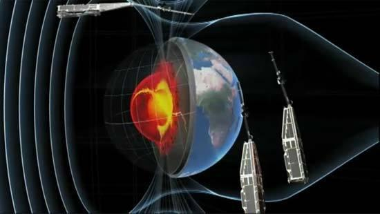 ESA's SWARM constellation will give scientists a 3-D view of Earth\'s magnetic field to help shield us from high-energy particles which threaten living creatures and electronics.