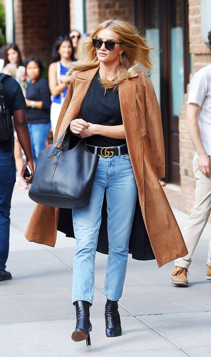 2c8d914f2b7 Style Notes  Add oomph to a simple jeans-and-tee combo with a statement belt  à la Rosie HW.