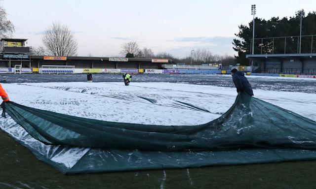 Groundstaff at AFC Wimbledon managed to get Tuesday's match against Blackburn on but clubs up and down the country face a battle to get fixtures on this weekend.