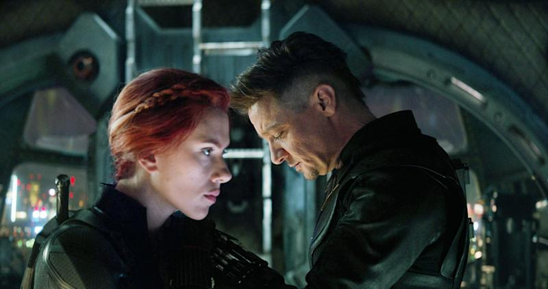 Scarlett Johansson and Jeremy Renner in 'Avengers: Endgame' (Walt Disney Studios Motion Pictures/ Marvel Studios/ courtesy Everett Collection)