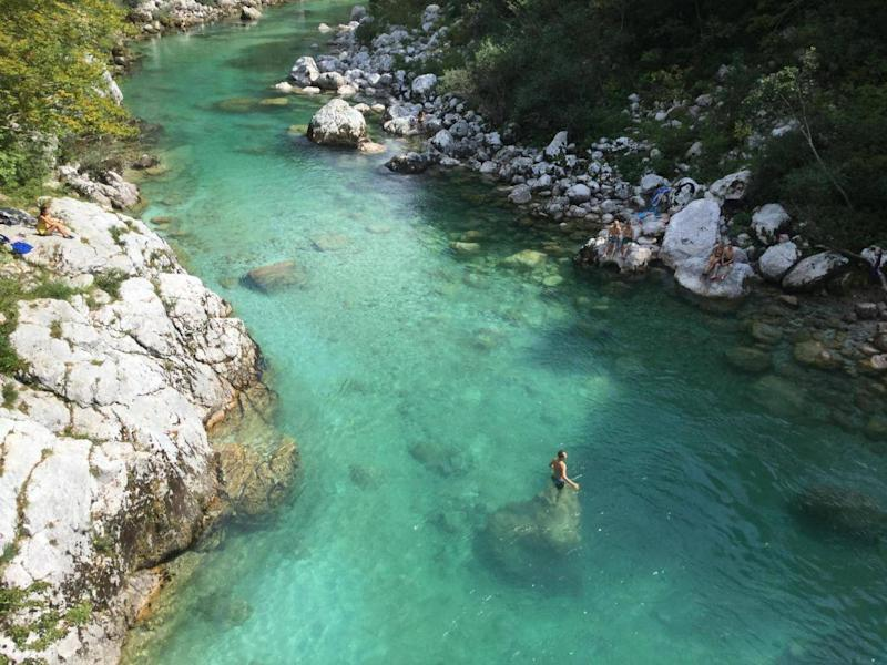 The trip involves swimming 4km a day (Strel Swimming Adventures)
