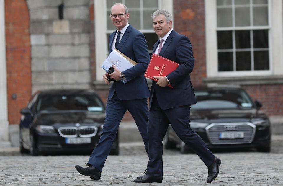Simon Coveney and Brandon Lewis co-chaired the meeting with NI political leaders to discuss legacy plans outlined by Westminster (Julien Behal/PA) (PA Media)