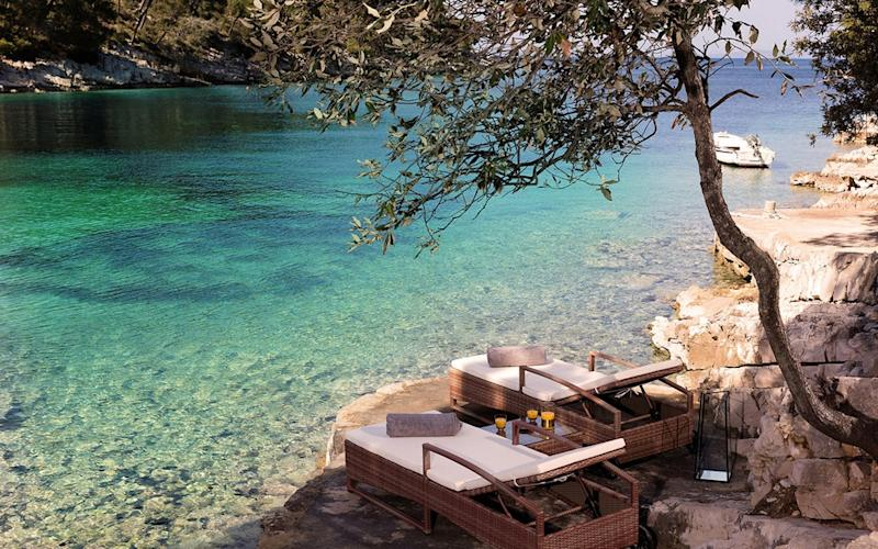 Little Green Bay, a boutique hotel in a secluded bay on Hvar, is all about understated luxury