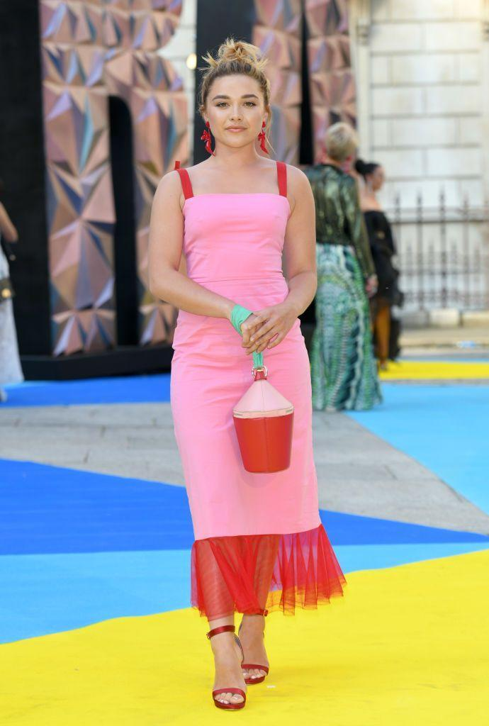 <p>Pugh stood out in pink and red at the Royal Academy of Arts Summer Exhibition Preview Party, June 2018.</p>