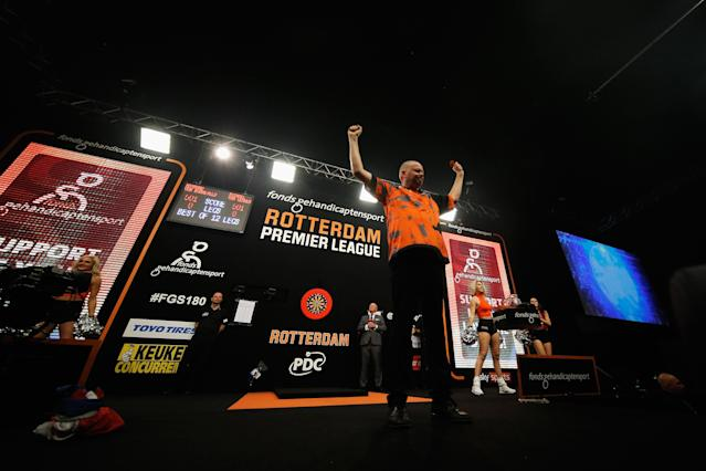 The five-time World Champion ahead of his Premier League match against Michael van Gerwen (Getty)