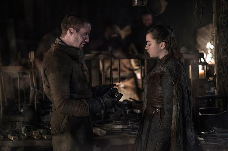 Gendry and Arya | Helen Sloan/HBO