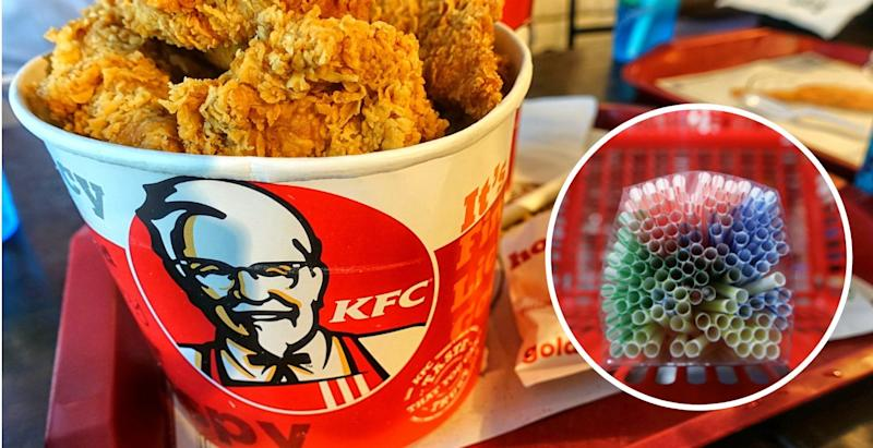 KFC Canada is launching a series of sustainability initiatives aimed at reducing the company's use of plastic products.