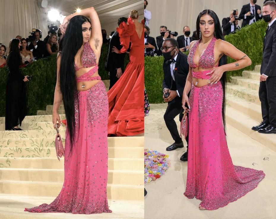 Lourdes Leon attends the 2021 Met Gala last night in New York and proudly displayed her armpit hair. (Getty Images)
