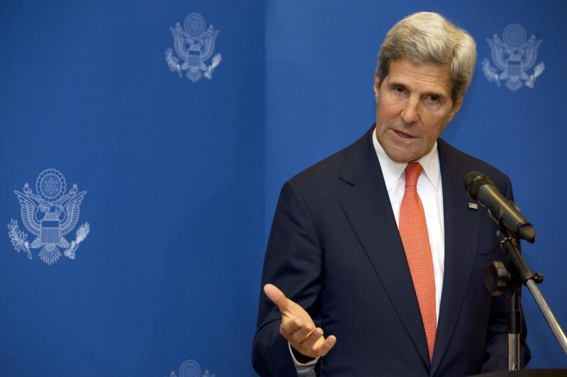 U.S. Secretary of State John Kerry speaks during a news conference in Kuala Lumpur