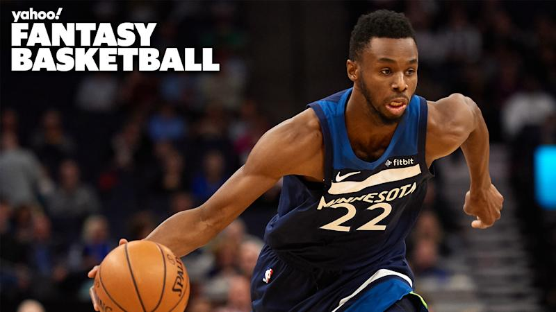 Andrew Wiggins #22 of the Minnesota Timberwolves at the Target Center on November 8, 2019 in Minneapolis, Minnesota.
