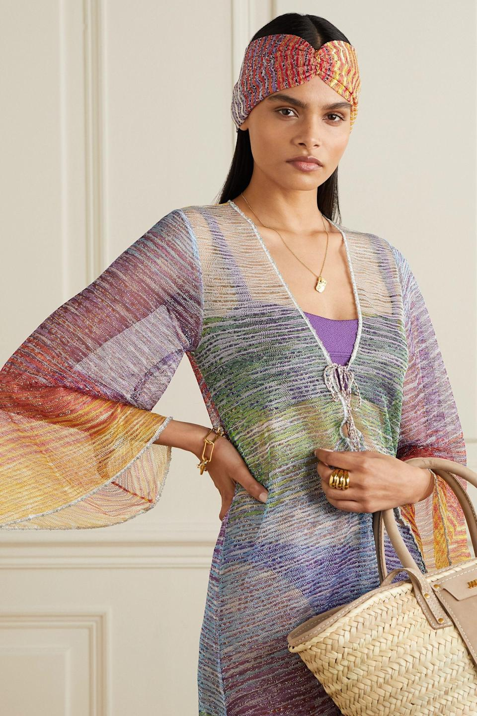 """<p><strong>Missoni</strong></p><p>net-a-porter.com</p><p><strong>$195.00</strong></p><p><a href=""""https://go.redirectingat.com?id=74968X1596630&url=https%3A%2F%2Fwww.net-a-porter.com%2Fen-us%2Fshop%2Fproduct%2Fmissoni%2Fcrochet-knit-headband%2F1254247&sref=https%3A%2F%2Fwww.cosmopolitan.com%2Fstyle-beauty%2Ffashion%2Fg35845953%2Fbest-knot-headbands%2F"""" rel=""""nofollow noopener"""" target=""""_blank"""" data-ylk=""""slk:Shop Now"""" class=""""link rapid-noclick-resp"""">Shop Now</a></p><p>Take a styling tip from this image and wear your headband with your beach day look. Not only will it keep your hair out of your face, but you'll also look supes chic.</p>"""