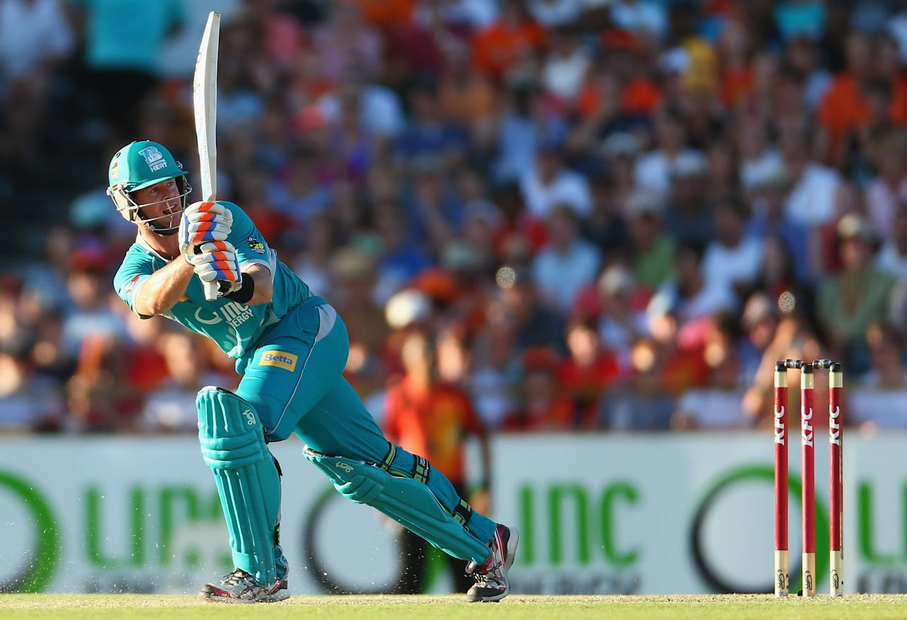 PERTH, AUSTRALIA - JANUARY 19:  Dan Christian of the Heat bats during the Big Bash League final match between the Perth Scorchers and the Brisbane Heat at the WACA on January 19, 2013 in Perth, Australia.  (Photo by Robert Cianflone/Getty Images)
