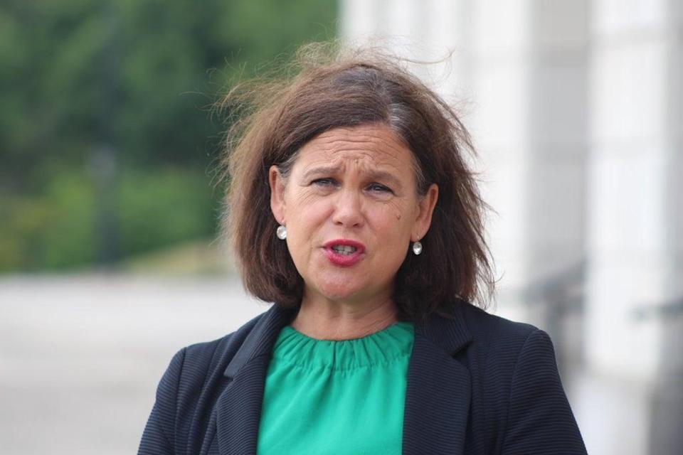 Mary Lou McDonald said she was 'deeply saddened' by the death of Pat Hume (PA) (PA Media)