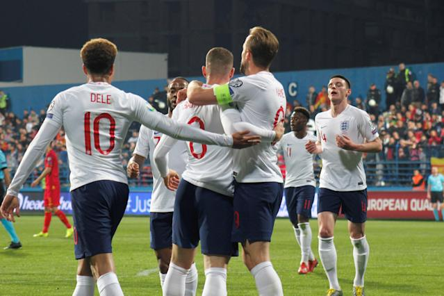 England's players rally together in Montenegro
