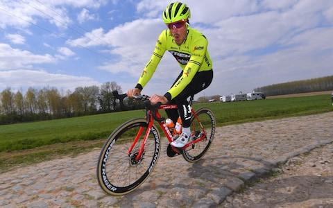 <span>John Degenkolb during training in the countdown to today's race</span> <span>Credit: GETTY IMAGES </span>