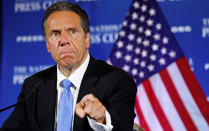 Andrew Cuomo speaks during a news conference, at the National Press Club in Washington - Jacquelyn Martin/AP