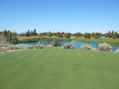 One of the stellar views from the Jack Nicklaus Golf Course at Pronghorn in Bend, Oregon.