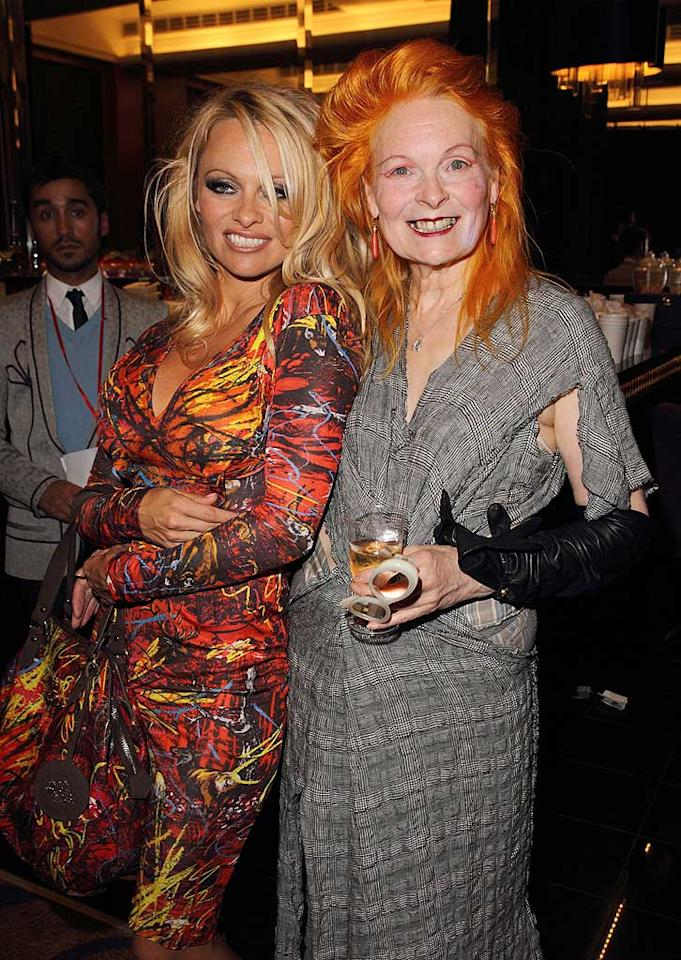 "The 43-year-old blond bombshell gushed about the orange-haired Westwood to the Associated Press. ""I just think her work is very beautiful,"" she said. ""She knows how to dress a woman, that's for sure. I'd rather wear nothing, or Vivienne. She knows how to work it all in."" Mike Marsland/<a href=""http://www.wireimage.com"" target=""new"">WireImage.com</a> - September 19, 2010"