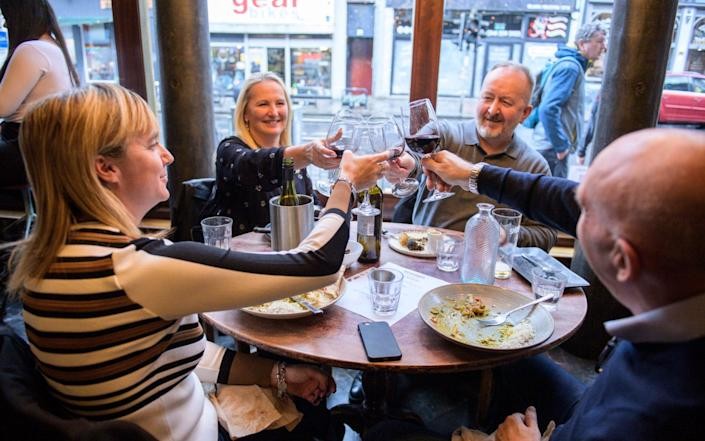 People in Glasgow had one last meal at Stravaigin before the two week lockdown in Scotland's central belt of pubs and restaurants - Wattie Cheung