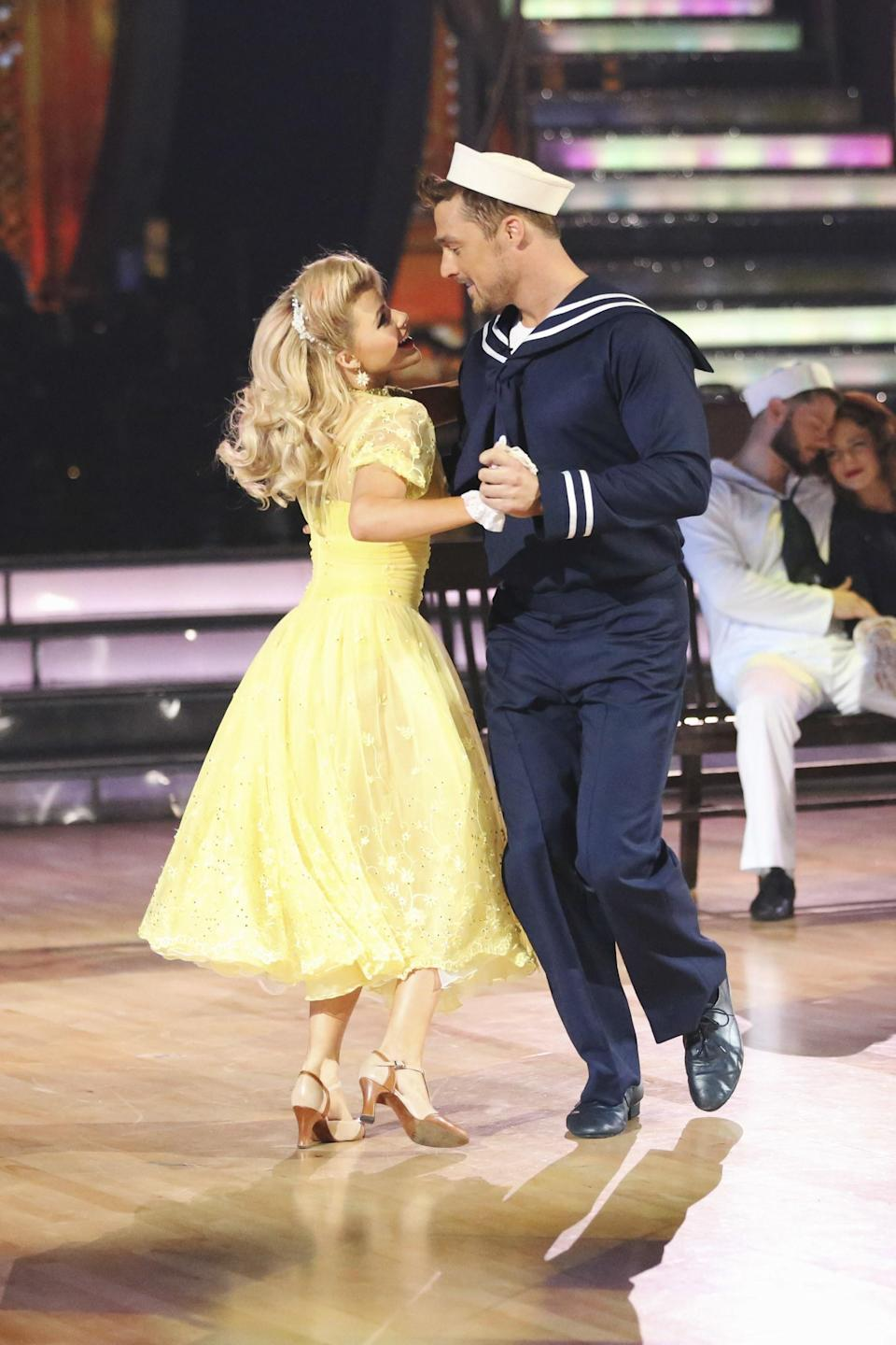 Following in Lowe's shoes, Soules went straight to the dance floor after his stint as the Bachelor. The farmer competed on season 20 in 2015 and was paired with pro dancer Witney Carson, who looked eerily similar to his then fiancée Whitney Bischoff. The dancing duo—who made it to fifth place—were hit with dating rumors throughout his entire time on the show. Just a few short weeks after getting eliminated in week eight, Lowe and Bischoff called off their engagement.